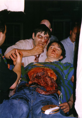 on set photos from Shaun of the Dead - dylan moran's demise 2