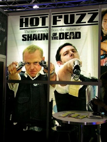 Feel the Fuzz - the <b>Hot Fuzz</b> gang at Comic-Con