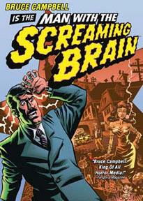 R1 DVD release for <b>Man With The Screaming Brain</b>