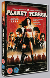 DVD details for <b>Planet Terror</b>, out on Region 2 10th March