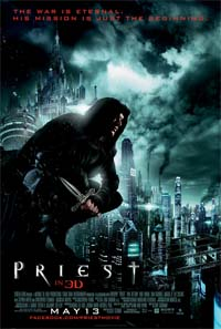 Extras clip for up coming post-apoc vampire movie <b>Priest</b>
